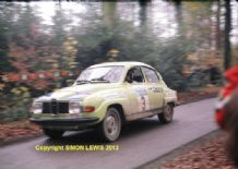"SAAB 96 V4 Stig Blomqvist 1975 RAC Rally. 10x7"" photo"